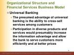 organizational structure and financial services business model38
