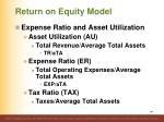return on equity model141