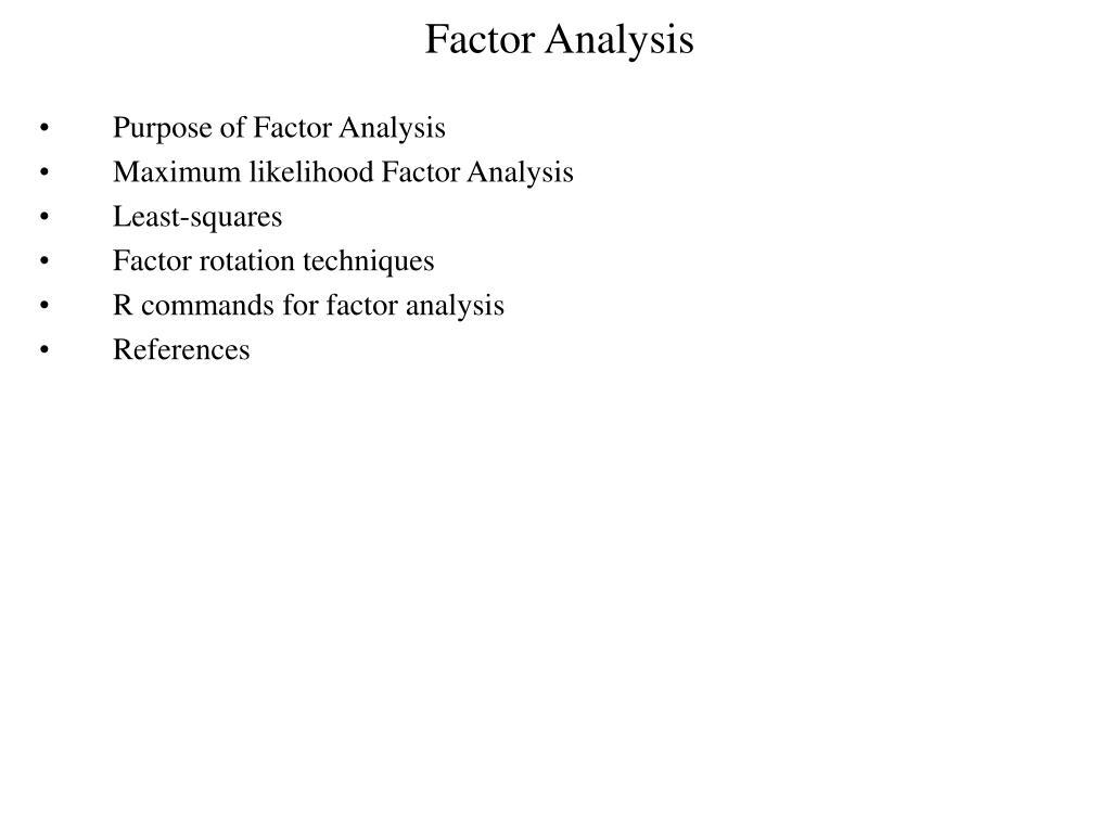 factor analysis l.