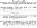 factor analysis model