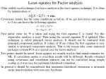 least squares for factor analysis