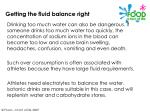 getting the fluid balance right18