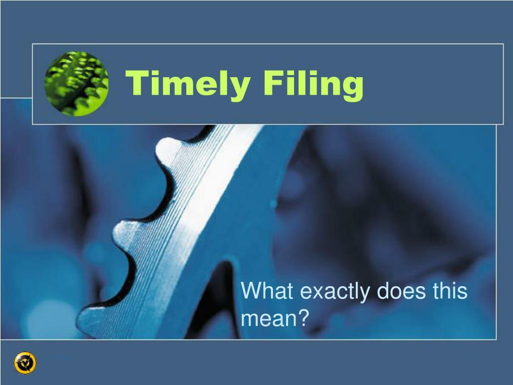 timely filing l.