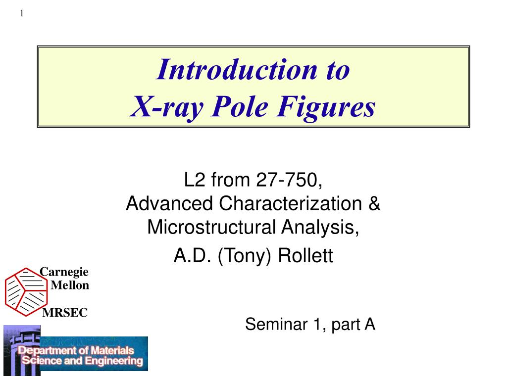 introduction to x ray pole figures l.