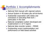 portfolio 1 accomplishments