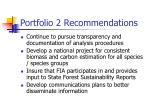 portfolio 2 recommendations