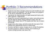 portfolio 3 recommendations