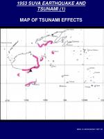 1953 suva earthquake and tsunami 1 map of tsunami effects