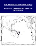 fiji tsunami warning system 2 potential tsunamigenic sources earthquake