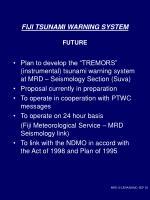 fiji tsunami warning system future