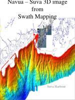 navua suva 3d image from swath mapping