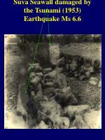 suva seawall damaged by the tsunami 1953 earthquake ms 6 6