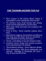 the tsunami hazard for fiji