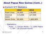 about papua new guinea cont