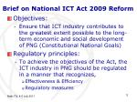 brief on national ict act 2009 reform