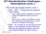 ict standardization challenges international cont