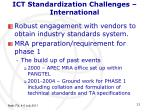 ict standardization challenges international