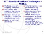 ict standardization challenges within