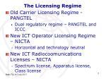 the licensing regime