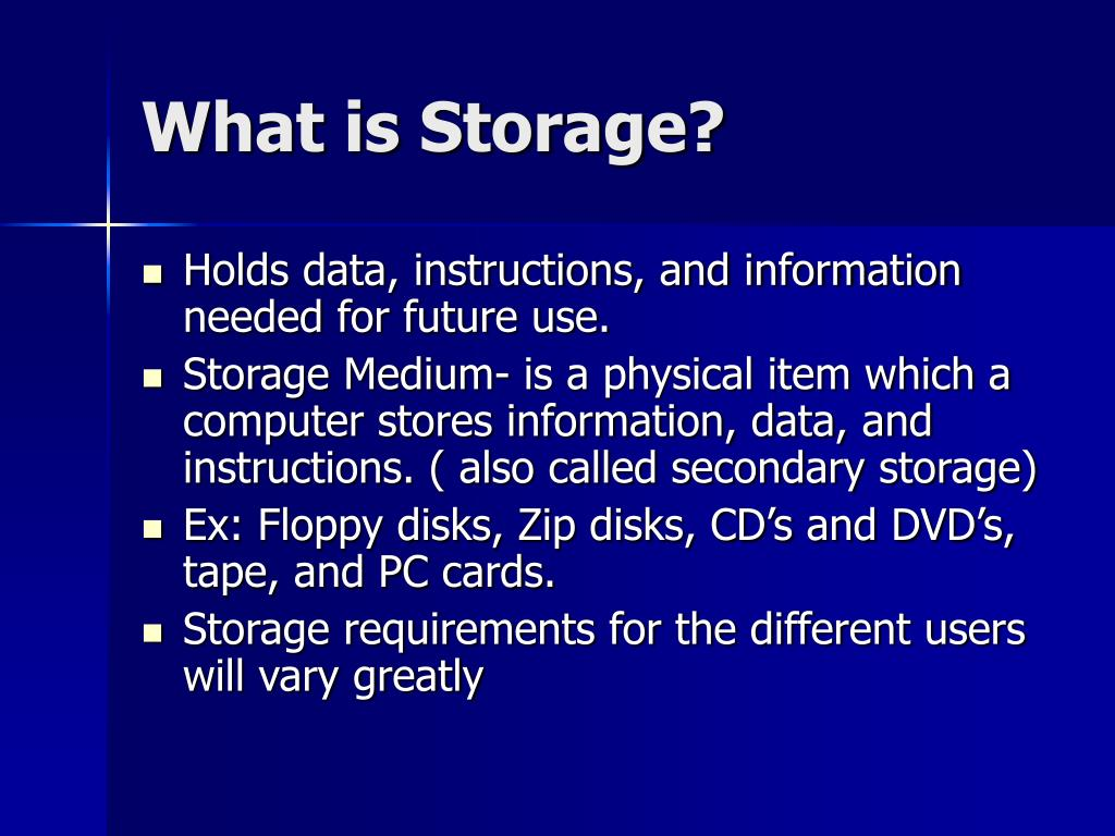 what is storage l.