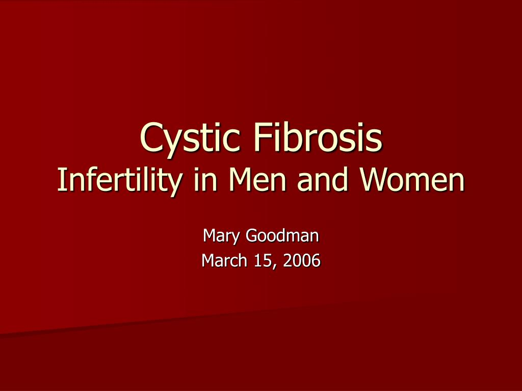 cystic fibrosis infertility in men and women l.