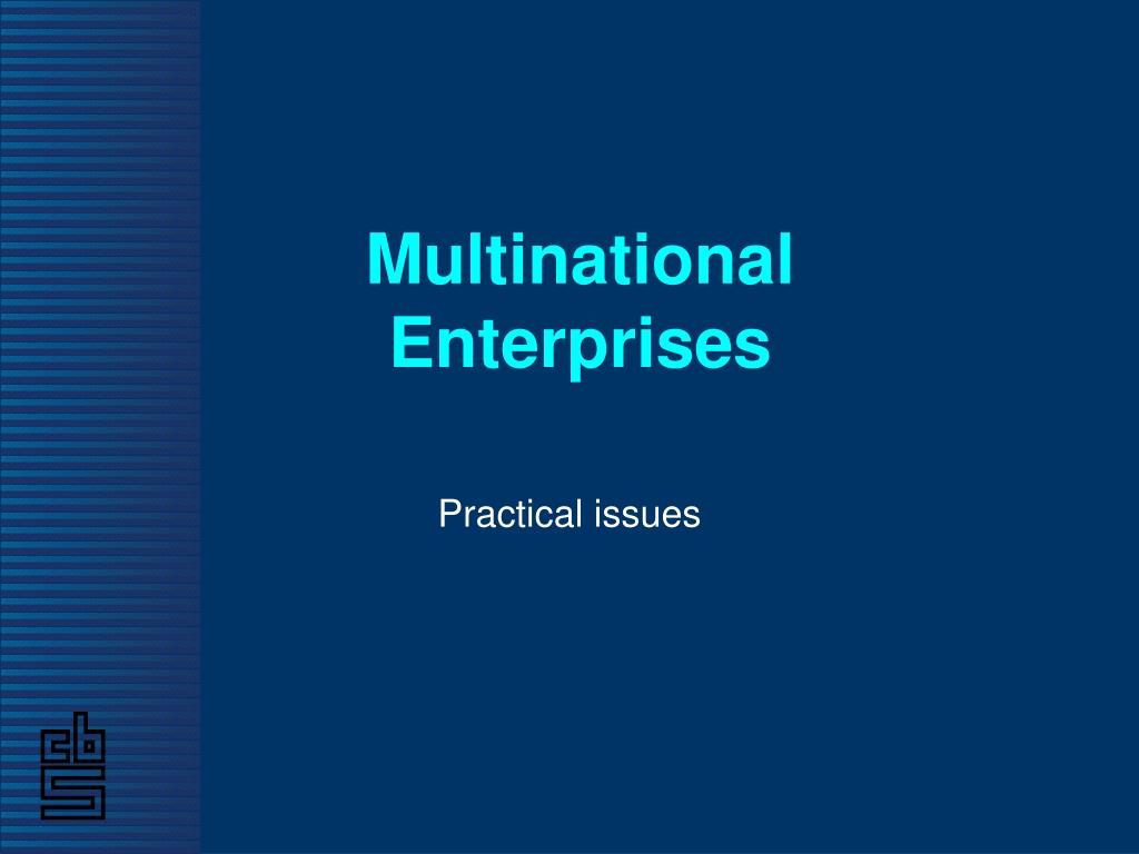multinational enterprises l.