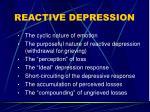 reactive depression
