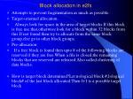 block allocation in e2fs