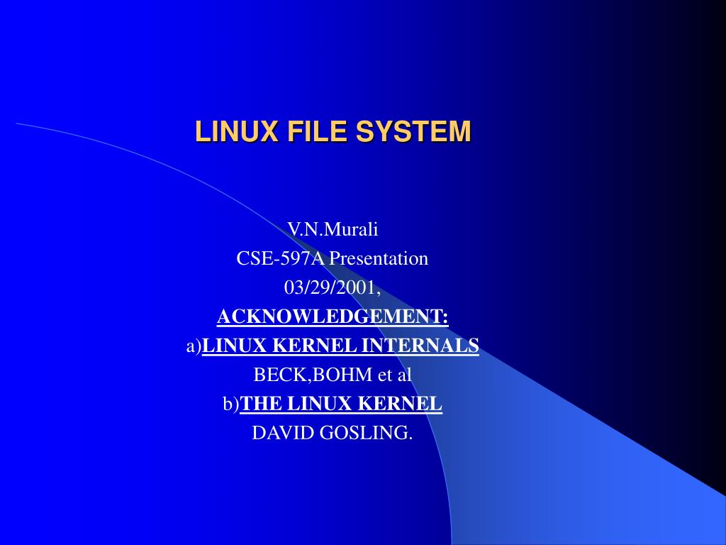 linux file system l.