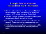 example forward contracts financial risk may be unbounded
