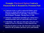 example purchased option contracts financial risk is bounded by premium paid