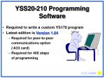 yss20 210 programming software