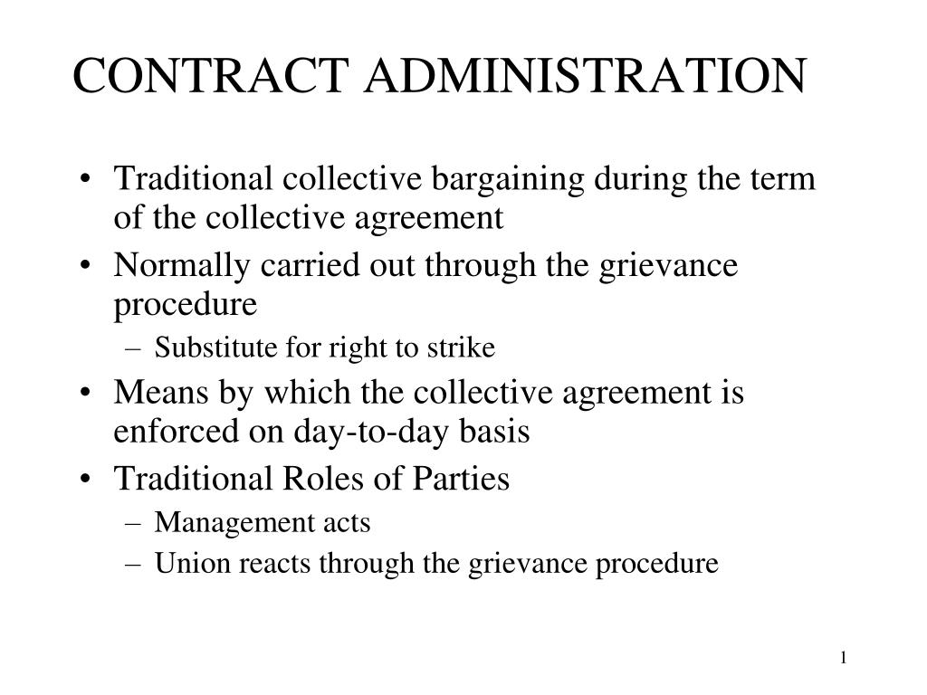 contract administration l.