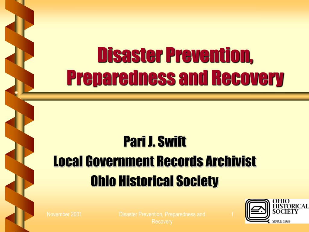 disaster prevention preparedness and recovery l.