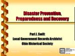 disaster prevention preparedness and recovery