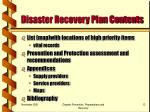 disaster recovery plan contents13