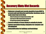 recovery hints wet records22