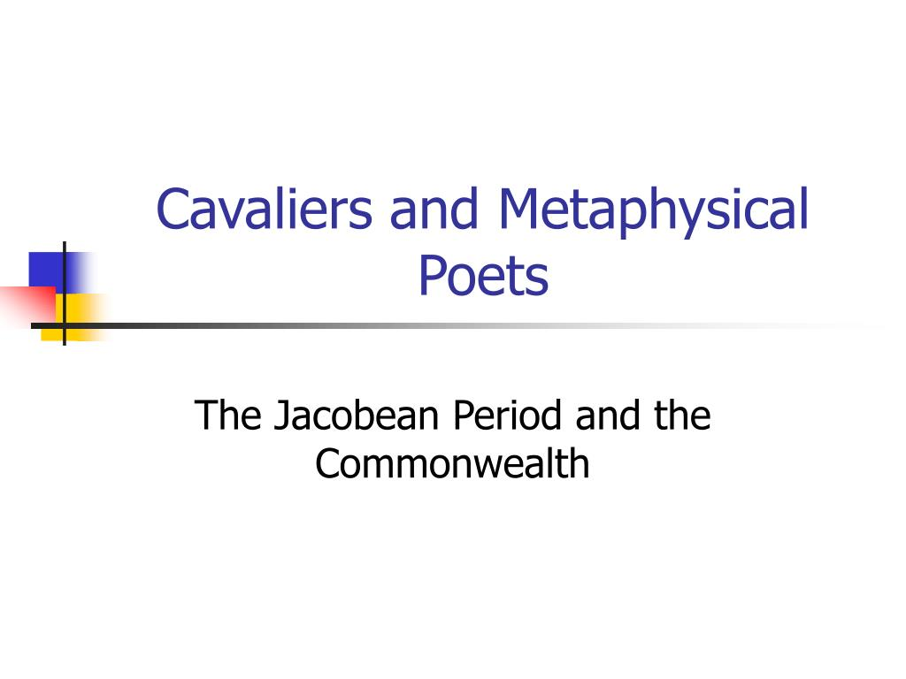 cavaliers and metaphysical poets l.