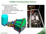 hyspec 3 he filling station features