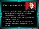 what is realistic fiction