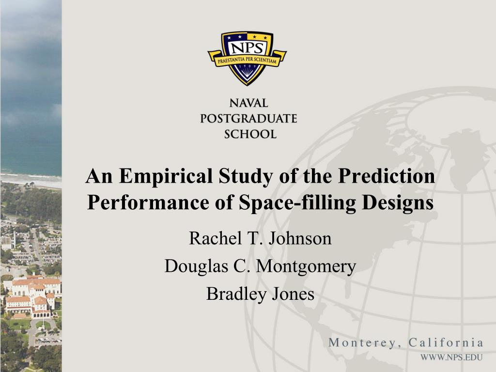 an empirical study of the prediction performance of space filling designs l.