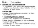 method of reduction