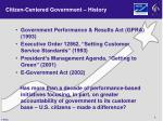 citizen centered government history
