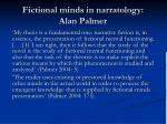 fictional minds in narratology alan palmer