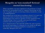 margolin on non standard fictional mental functioning