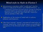 mind style in style in fiction 1