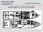 main deck 1st platform