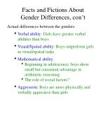 facts and fictions about gender differences con t