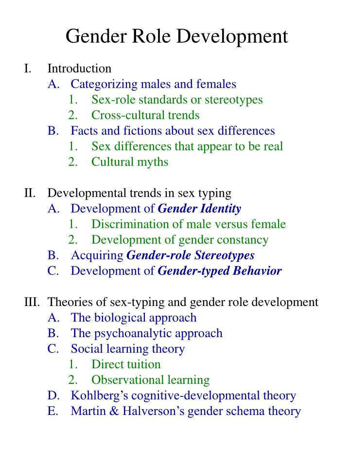 gender role development n.