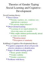 theories of gender typing social learning and cognitive development